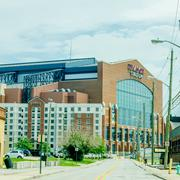 Indianapolis - june 21, 2014: lucas oil stadium home of the indianapolis colt Kuvituskuvat