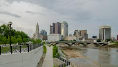 Columbus ohio skyline and downtown streets in late afternoon Kuvituskuvat