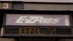 E-ZPass Entrance in 4K Stock Footage