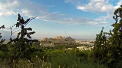 Parthenon temple on Athenian Acropolis, Athens, Greece Stock Footage