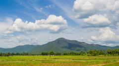 Time lapse beautiful nature landscape and cloud movement in the sky Stock Footage