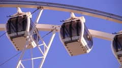 Ferris Wheel Pods Up High Stock Footage
