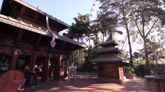 Nepal Peace Pagoda - Wide Angle Stock Footage