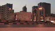 Stock Video Footage of Ajman Museum Roundabout
