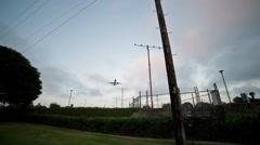 Plane flies Overhead - stock footage