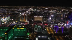 Aerial of South Las Vegas Strip - Tropicana, Aria, Cosmo, PH, MGM, NYNY Stock Footage