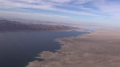 Aerial Lake Mead Calville Bay Nevada United States Stock Footage