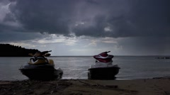 Stock Video Footage Rain appliances waiting jet ski - stock footage