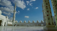 Sheikh Zayed Grand Mosque Stock Footage