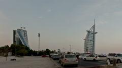 Burj Al Arab Jumeirah Beach Hotel Stock Footage