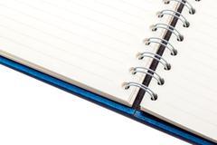 Blue velvet notebook Stock Photos