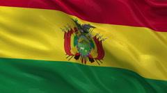 Flag of Bolivia seamless loop Stock Footage