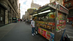 Middle-Eastern Food Truck in Manhattan, New York City, NYC, USA Stock Footage