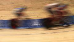 Bicycle race blurred motion Stock Footage