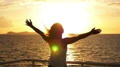 Motivational, Uplifting Concept of Freedom, Happiness and Enjoyment.Free Woman Stock Footage