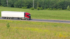 Truck driving on a road Stock Footage