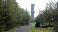Sneznik tower in Bohemian Switzerland Stock Footage