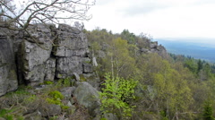 Rock formation in Bohemian Switzerland Stock Footage