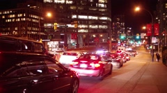 4K Time Lapse - Long exposure traffic in Vancouver Stock Footage