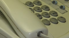 Call on your office phone - stock footage