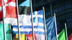 Flag of the Greece waving Stock Footage