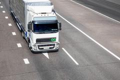 Truck on the road Kuvituskuvat