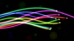 Rainbow Lines Animation Stock Footage