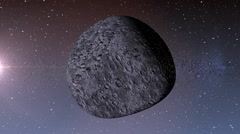 Asteroid in deep space. - stock footage