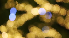 Colorful Christmas Illumination ( bokeh ) Stock Footage