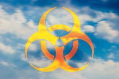contaminated air - stock illustration