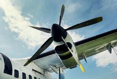 plane propeller retro style - stock photo