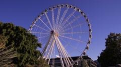 Ferris wheel time lapse Stock Footage