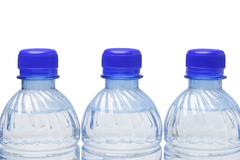 mineral water in plastic bottles - stock photo