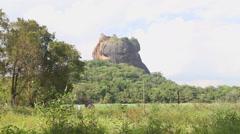 View of the Rock Fortress in Sigiriya, Sri Lanka. Stock Footage
