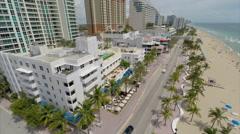 Aerial Ft Lauderdale Beach 3 Stock Footage