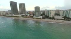 Aerial Hallandale Beach 3 Stock Footage