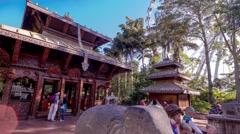 Time Lapse Nepal Peace Pagoda Stock Footage