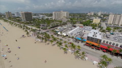 Aerial Ft Lauderdale Beach 6 Stock Footage