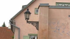 An old street lamp in tartu estonia 4k gh4 Stock Footage
