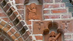 The carved arts from the church building 4k gh4 Stock Footage