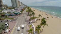 Aerial Ft Lauderdale Beach 2 Stock Footage