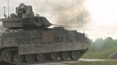 Tanks and Paladins Mechanized Live Fire Stock Footage