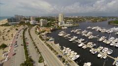 Aerial Ft Lauderdale Beach Bahia Mar 2 Stock Footage