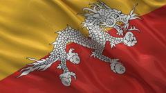 Flag of Bhutan seamless loop Stock Footage