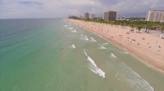 Fort Lauderdale Beach aerial video - stock footage