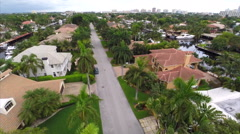Aerial Las Olas mansions 3 Stock Footage
