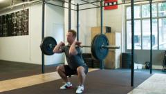 Front Squats Stock Footage