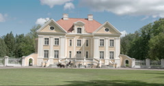 The beautiful old palmse manor in lahemaa 4k fs700 odyssey 7q Stock Footage