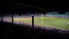 Baseball Stadium Wide Angle Stock Footage