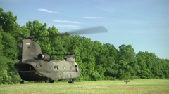 CH-47 Chinook helicopter operations - stock footage